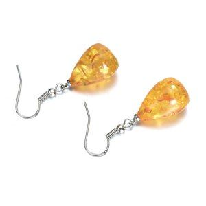 NWOT Amber Tear Drop Earrings